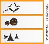 vector card halloween background | Shutterstock .eps vector #1146009563
