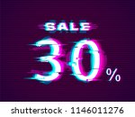 glitched sale up to 30  off.... | Shutterstock .eps vector #1146011276