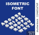 font. isometry. view from above.... | Shutterstock .eps vector #1146016769