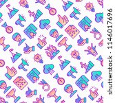 success seamless pattern with... | Shutterstock .eps vector #1146017696