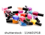 group of bright nail polishes... | Shutterstock . vector #114601918