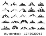 set of the flat mountain icons | Shutterstock .eps vector #1146020063