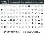 mixed ui  web  communication ... | Shutterstock .eps vector #1146020069