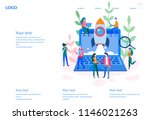 concept startup launch of a new ... | Shutterstock .eps vector #1146021263