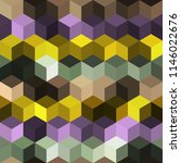 hexagon grid seamless vector... | Shutterstock .eps vector #1146022676
