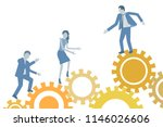 conceptual teamwork business... | Shutterstock .eps vector #1146026606