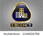 gold shiny emblem with... | Shutterstock .eps vector #1146026783