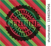 genuine christmas colors emblem. | Shutterstock .eps vector #1146026906