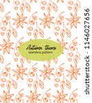 hand drawn pattern with autumn... | Shutterstock .eps vector #1146027656