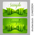 Green Gift Cards With Bow