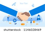 partnership concept for web... | Shutterstock .eps vector #1146028469
