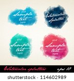 watercolor splatters. vector | Shutterstock .eps vector #114602989