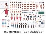 african american woman school... | Shutterstock .eps vector #1146030986