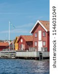 boathouses on the swedish west...   Shutterstock . vector #1146031049