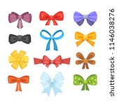 cartoon cute gift bows with... | Shutterstock . vector #1146038276