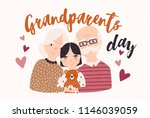 grandfather and grandmother... | Shutterstock .eps vector #1146039059