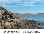 swedish landscape with sailboat   Shutterstock . vector #1146039869