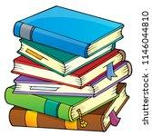 stack of books theme image 1  ... | Shutterstock .eps vector #1146044810