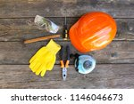 construction tools and means of ... | Shutterstock . vector #1146046673