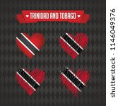 trinidad and tobago heart with... | Shutterstock .eps vector #1146049376