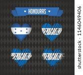 honduras heart with flag inside.... | Shutterstock .eps vector #1146049406