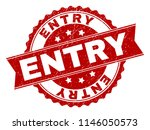 entry seal stamp with corroded... | Shutterstock .eps vector #1146050573