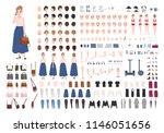 modern young woman constructor... | Shutterstock .eps vector #1146051656