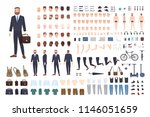 businessman constructor or diy... | Shutterstock .eps vector #1146051659
