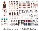 african american woman... | Shutterstock .eps vector #1146051686