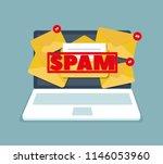spam mailbox concept  vector... | Shutterstock .eps vector #1146053960