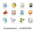 office icons | Shutterstock .eps vector #114605443