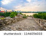 ancient city walls and temples... | Shutterstock . vector #1146056033