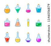 magic bottle vector magical... | Shutterstock .eps vector #1146056879