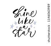 shine like a star phrase.... | Shutterstock .eps vector #1146063989