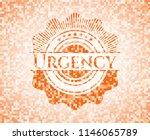 urgency orange mosaic emblem... | Shutterstock .eps vector #1146065789