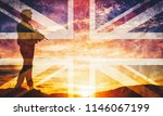 armed soldier with rifle and...   Shutterstock . vector #1146067199