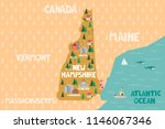 illustrated map of the state of ...   Shutterstock .eps vector #1146067346