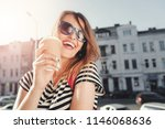 attractive trendy young woman... | Shutterstock . vector #1146068636