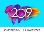blue 2019 new year background... | Shutterstock .eps vector #1146069926