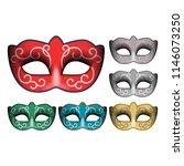 masquerade party masks....   Shutterstock .eps vector #1146073250