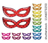 masquerade party masks.... | Shutterstock .eps vector #1146073253