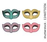masquerade party masks....   Shutterstock .eps vector #1146073256