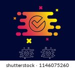 check line icon. approved tick... | Shutterstock .eps vector #1146075260