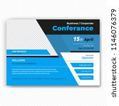 horizontal conference flyer... | Shutterstock .eps vector #1146076379