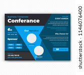horizontal conference flyer... | Shutterstock .eps vector #1146076400
