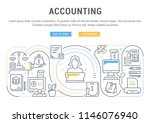 line banner of accounting.... | Shutterstock .eps vector #1146076940