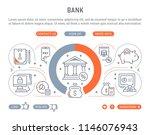line banner of bank. vector...   Shutterstock .eps vector #1146076943