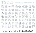 set of vector line icons of... | Shutterstock .eps vector #1146076946