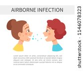 air infections. transmission of ... | Shutterstock .eps vector #1146078323
