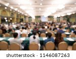 blurred background of audience... | Shutterstock . vector #1146087263